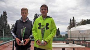Pobjednik turnira Daniel Jančić i drugoplasirani Viktor Boban